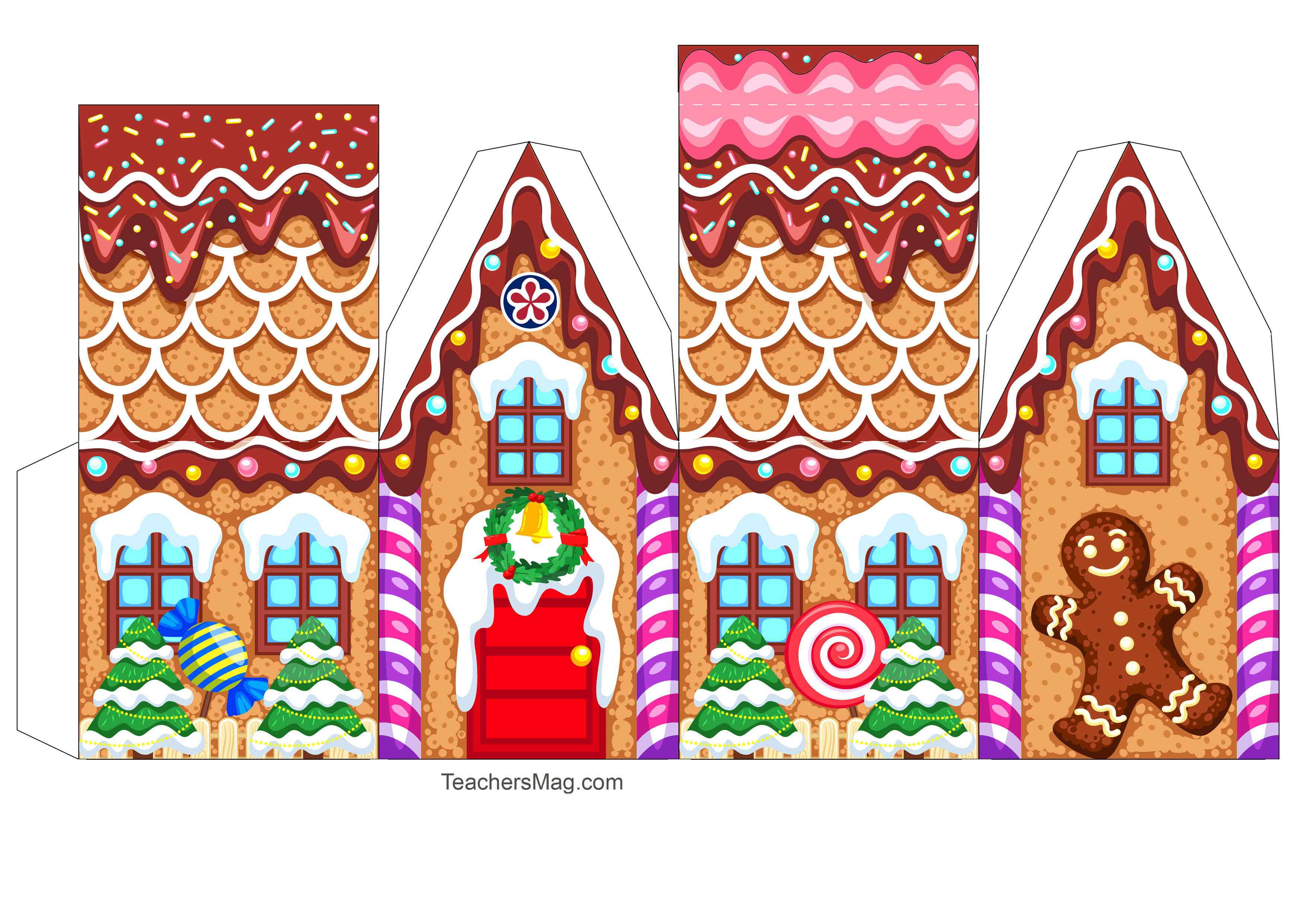 Free Printable Gingerbread House Template