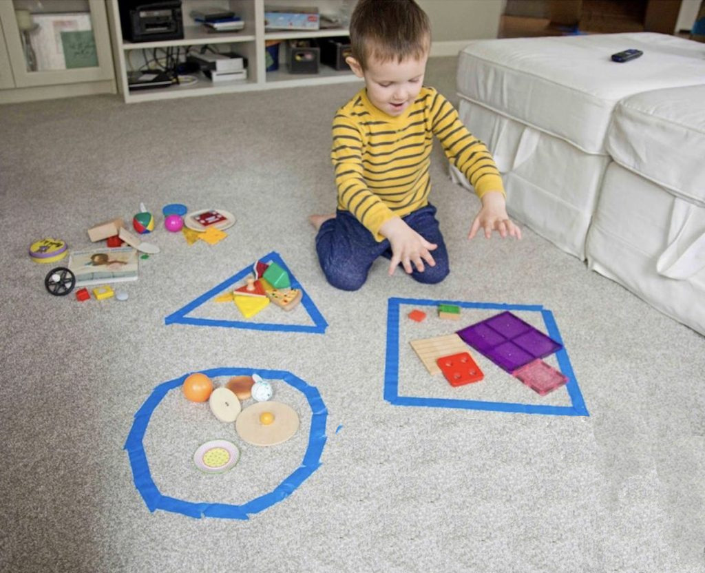 Free Printable Everyday Objects Shape Matching Activity