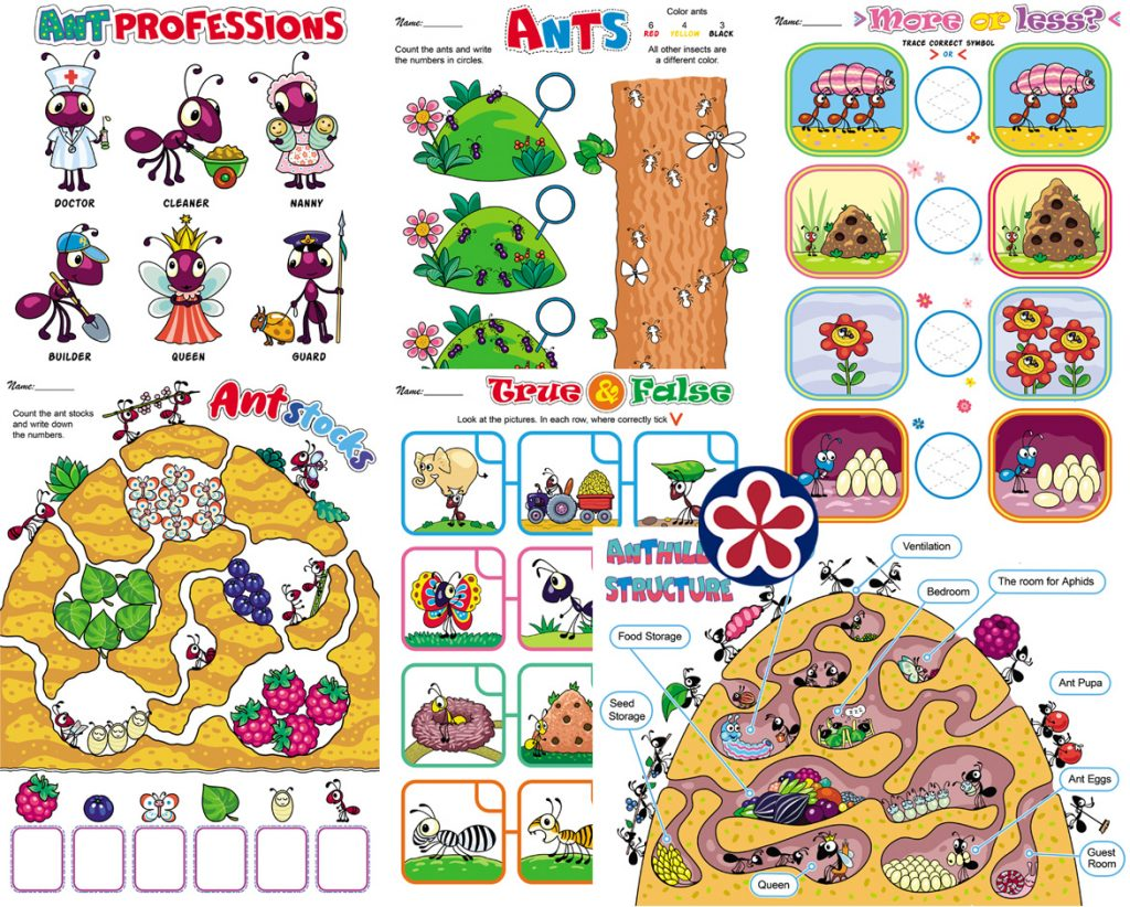 Ant Themed Worksheets And Posters For Preschool