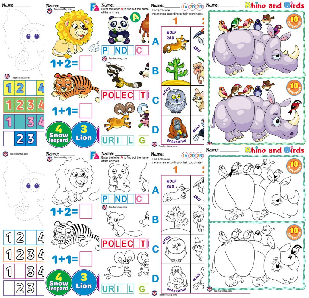 Asian Animals Worksheets Teachersmag