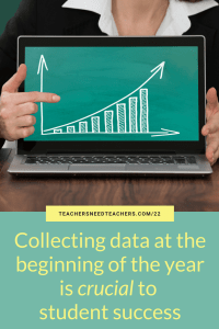 Teachers can't effectively differentiate and measure student growth without first collecting and analyzing data. Here are the five types of data that are essential for back-to-school. back to school | first year teacher | first year teacher tips | student data | differentiation | lesson plans | how to measure student achievement | how to measure student growth | how to know if my students are learning | how to track learning | IEP | student demographics | preassessment | Lexile
