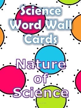 Nature of Science Word Wall Cards and Activity Page