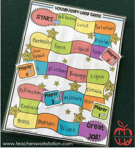 vocabulary land board game