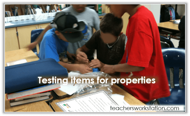 testing properties of matter with text and blur