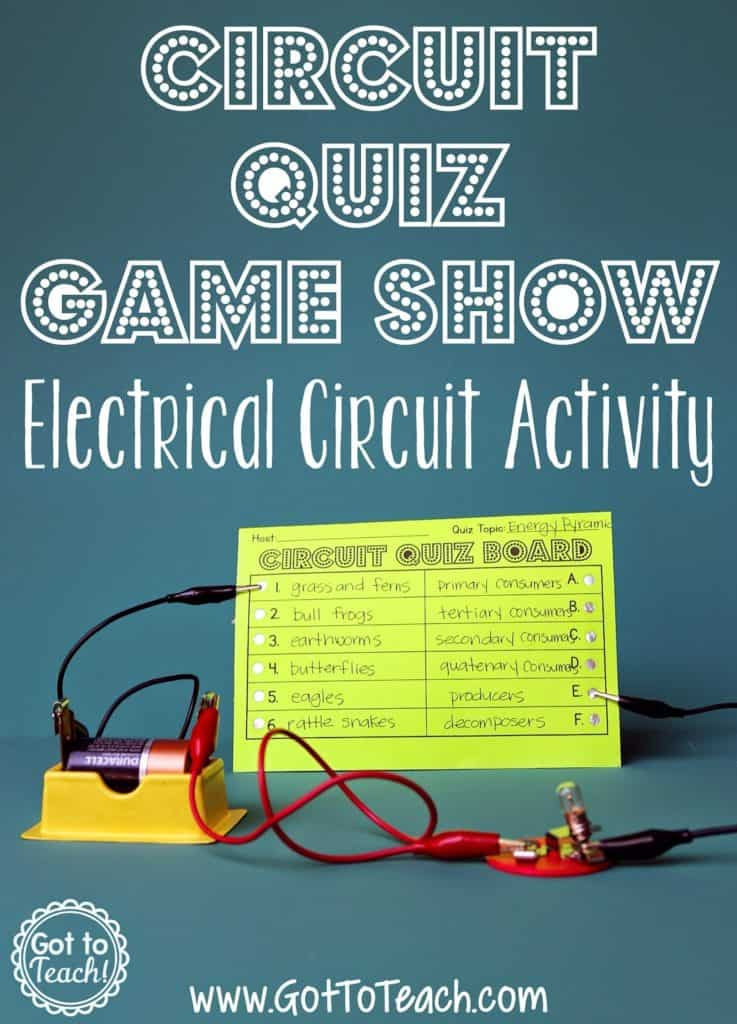 electrical circuit game show lesson \u2022 teacher thriveone of my all time favorite lessons to do during our electricity and magnetism unit! it is such an engaging way to get the kids working with circuits