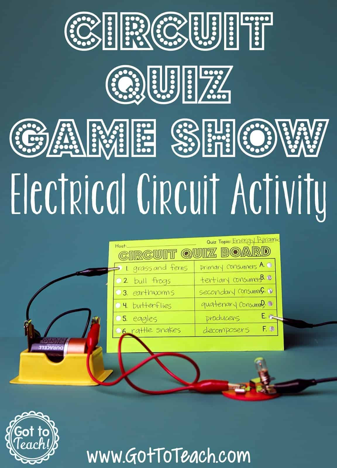 Strange Electrical Circuit Game Show Lesson Teacher Thrive Wiring Cloud Hisonuggs Outletorg