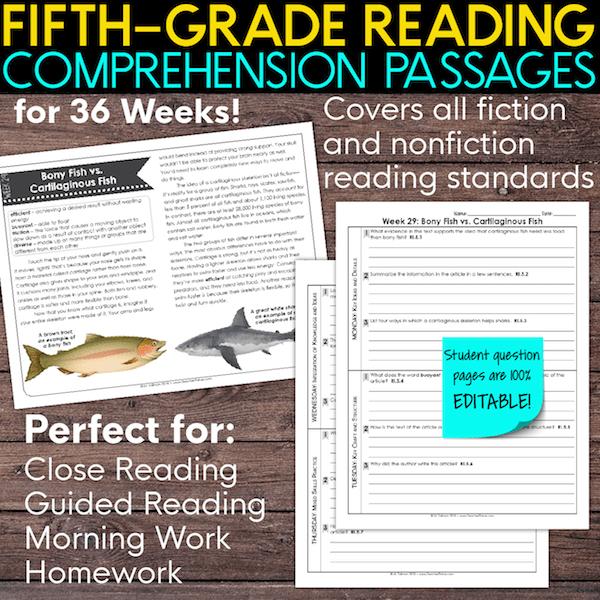 5th grade reading