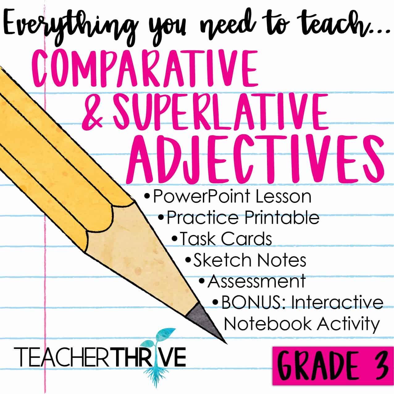 Third Grade Grammar Comparative And Superlative