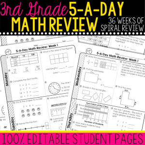 third grade math review