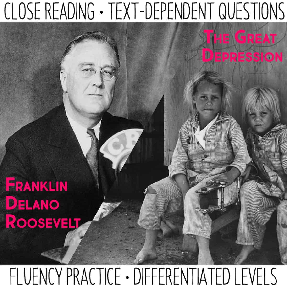 Close Reading And Fluency Practice Fdr Amp The Great