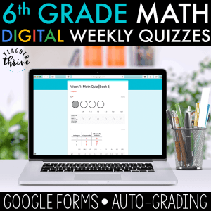 5th grade digital math assessments