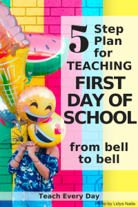 Five step game plan for teaching the first day of school.