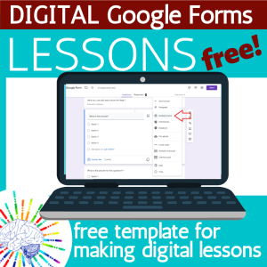 Free Google Form Template for your own classroom lesson.