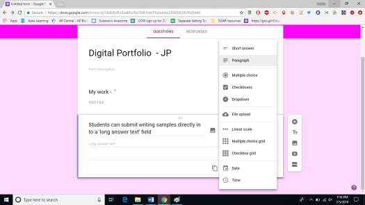 Use Google Forms to make Digital Portfolios - Teach Every Day