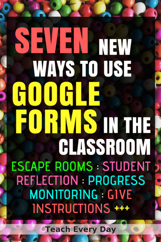 Teachers everywhere are using Google Forms in the classroom for making self-graded assessments. But Google Forms can be used for so much more! Easy simple ways to use technology in the classroom.