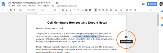 Less Time Grading - Grade Digitally using comments in Google Docs
