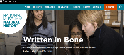 Teach forensic anthropology with real cases - a set of online forensics activities