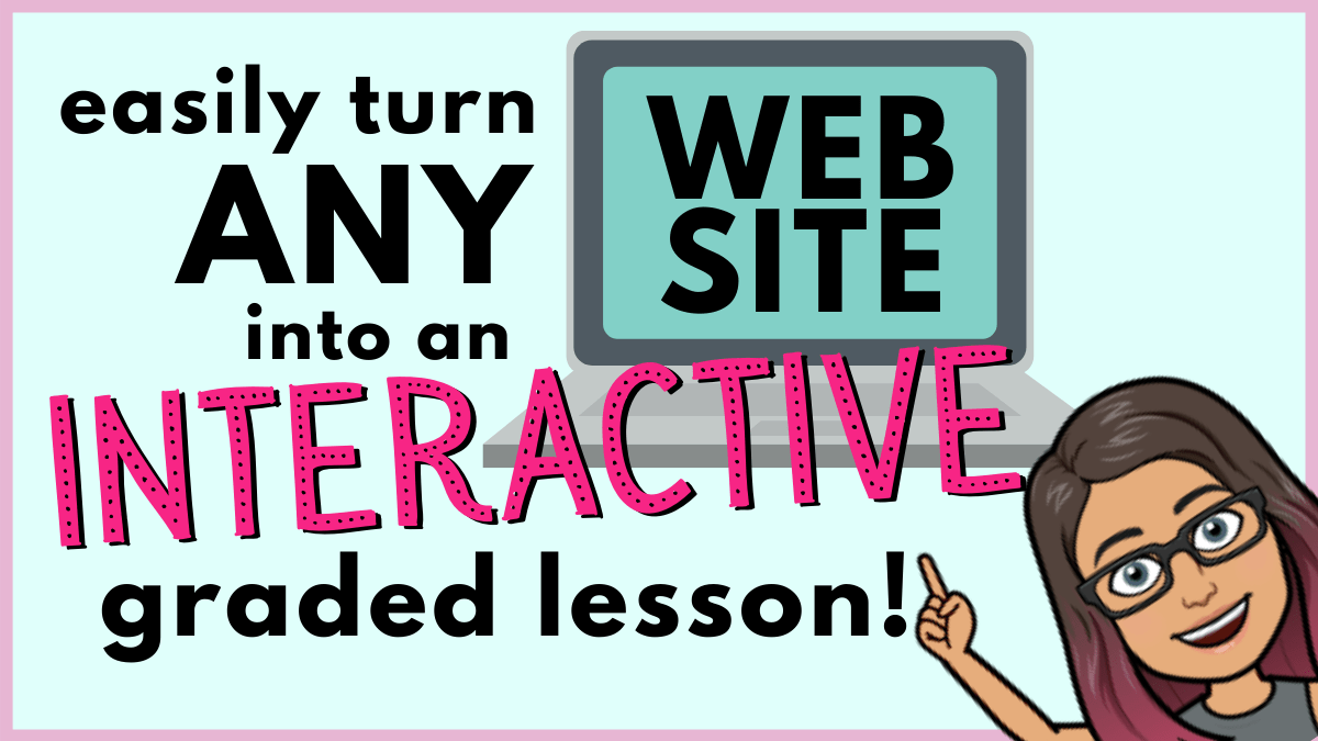 Easily turn any website into an interactive virtual lesson!