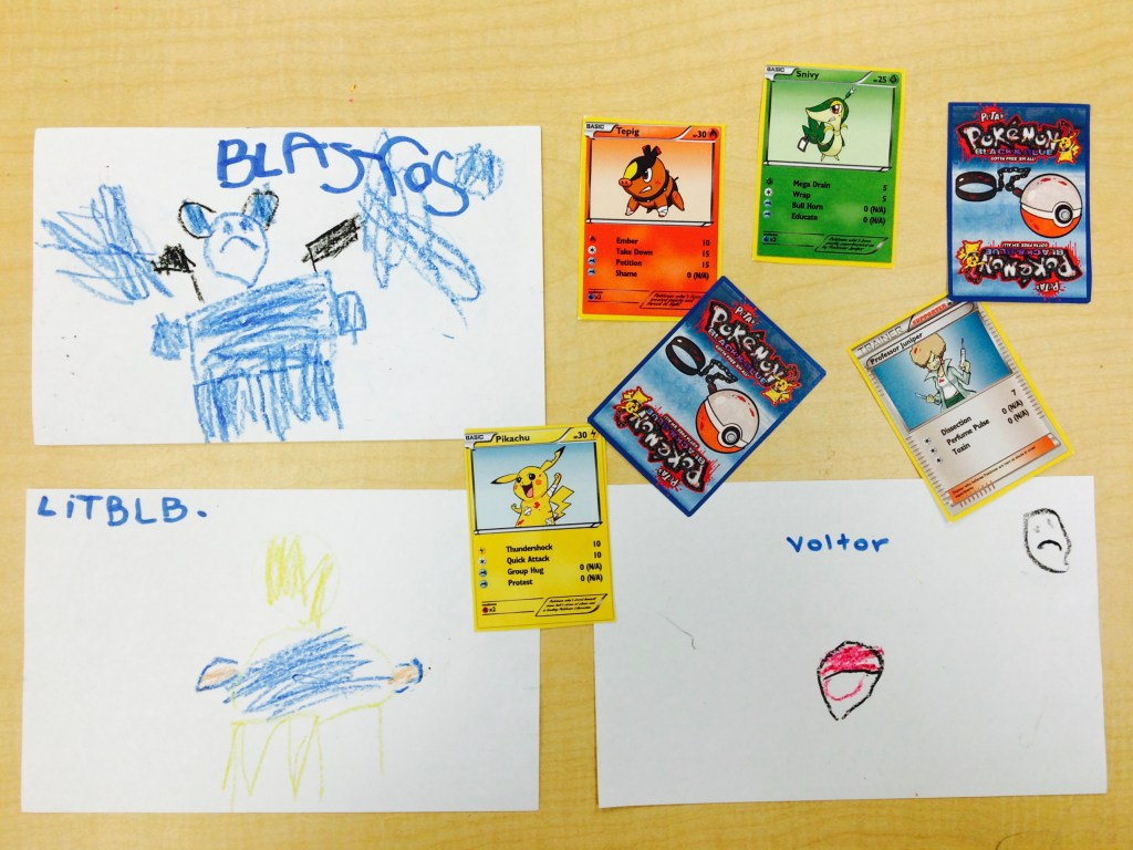 From left to right: Blastoise, Lightbulb and Voltor from Pokemon Go. After a quick Google search, I was surprised at just how realistic the children's drawings were!