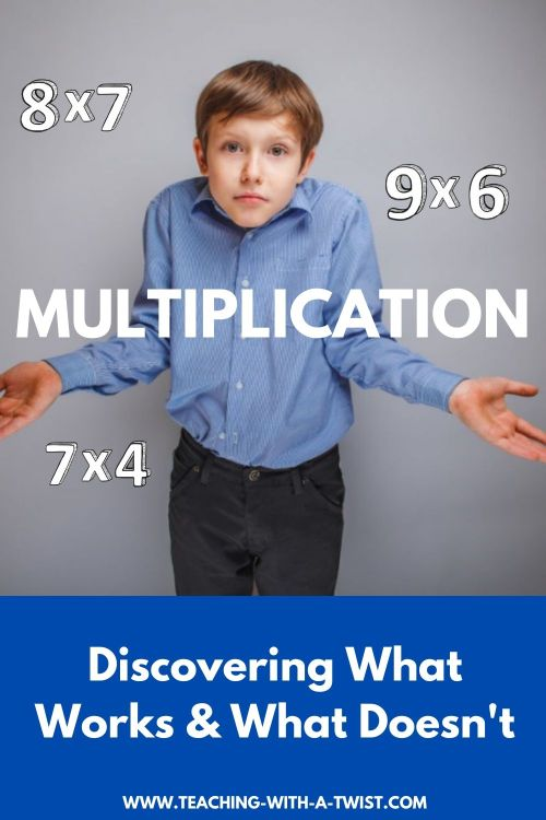 There are a lot of things that don't work when kids try to memorize the times tables. Stop wasting time and find out what does work! #multiplication