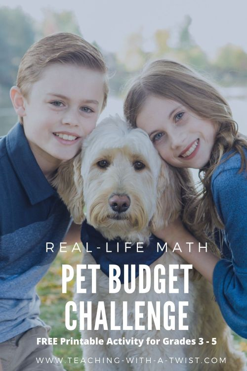 Pet Math Budget Challenge is a fun way to engage children with real-life math application to something they love….PETS!