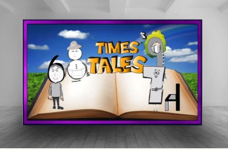 Times Tales Memorize Multiplication Open Book