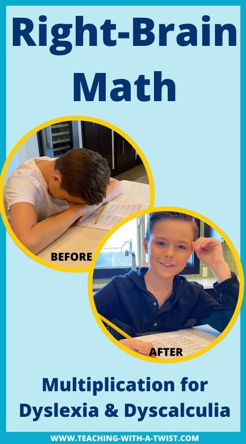 Right Brain Math to Teach Multiplication for Dyslexia and Dyscalculia