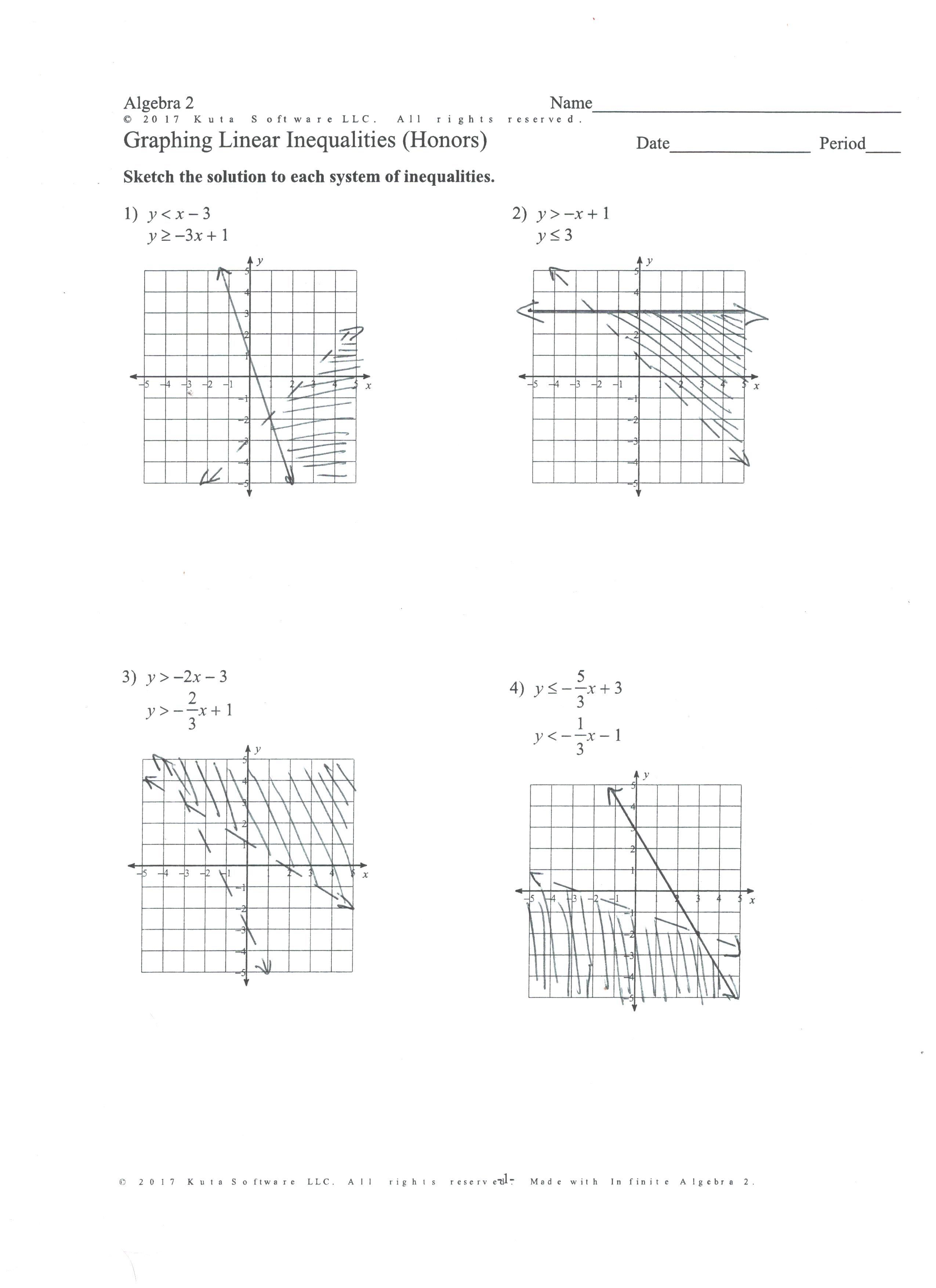 System Of Linear Equations Worksheet Kuta