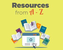 Resources from A-Z, photo of books