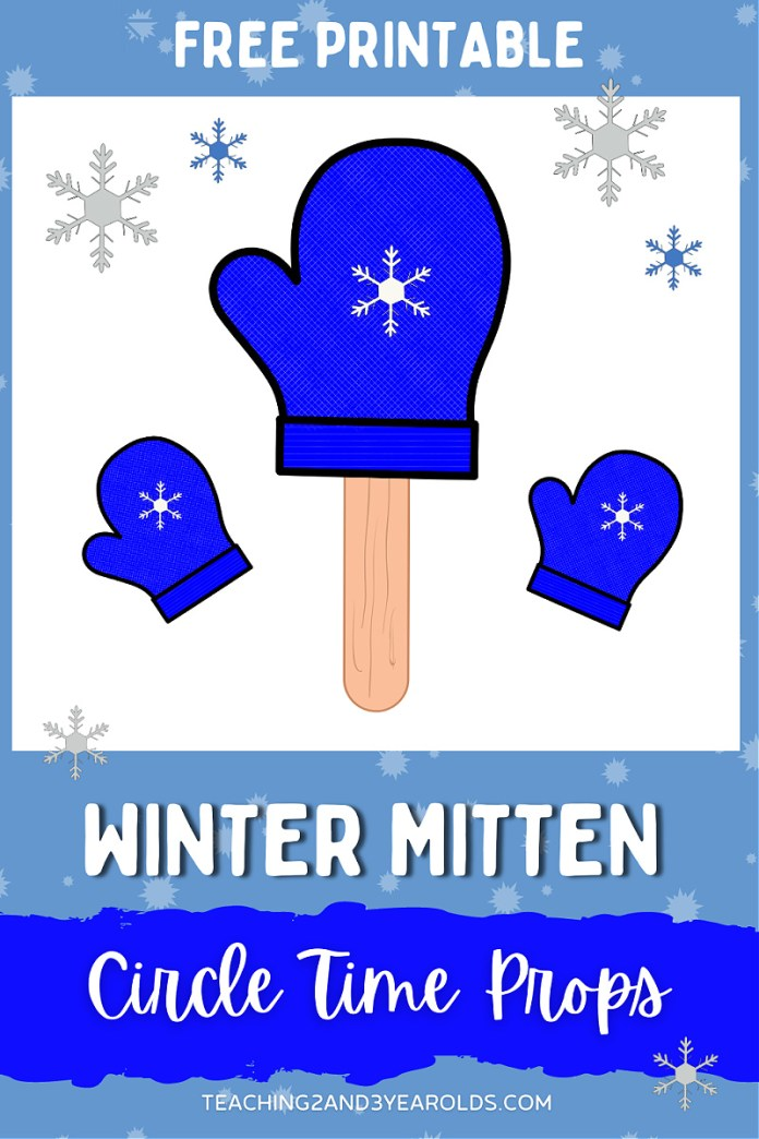 Winter Circle Time Activity with Printable Mitten Props