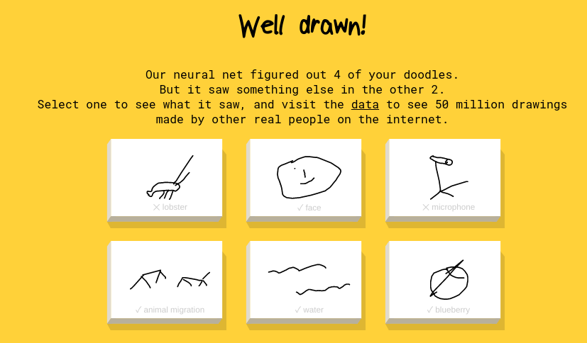 Quick draw in AI for Kindy Kids