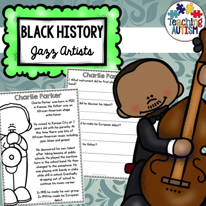 Black history month jazz artists reading comprehension black history month jazz comprehension ibookread