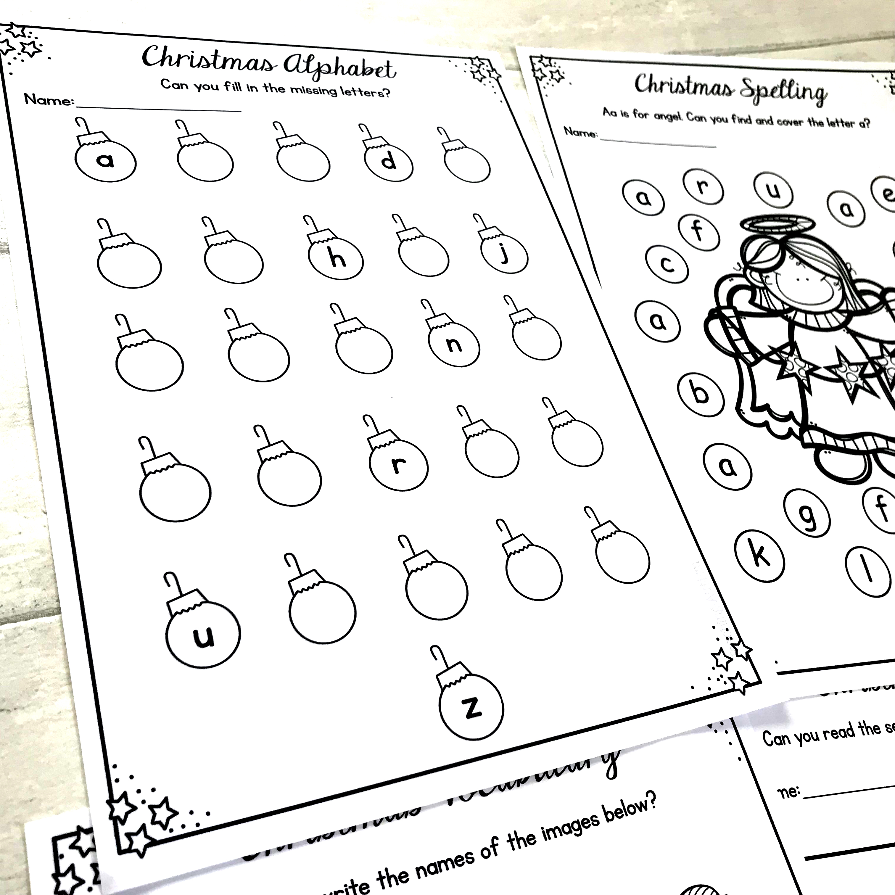 - Christmas Activities Literacy Worksheets, No Prep - Teaching Autism