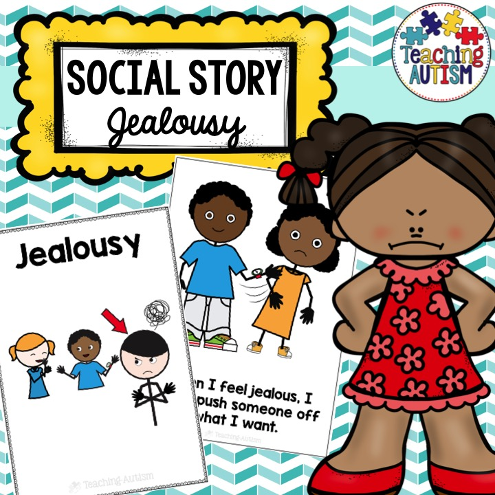Social Story Jealousy, Symbol Support - Teaching Autism