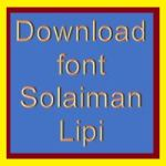 Download font Solaiman Lipi