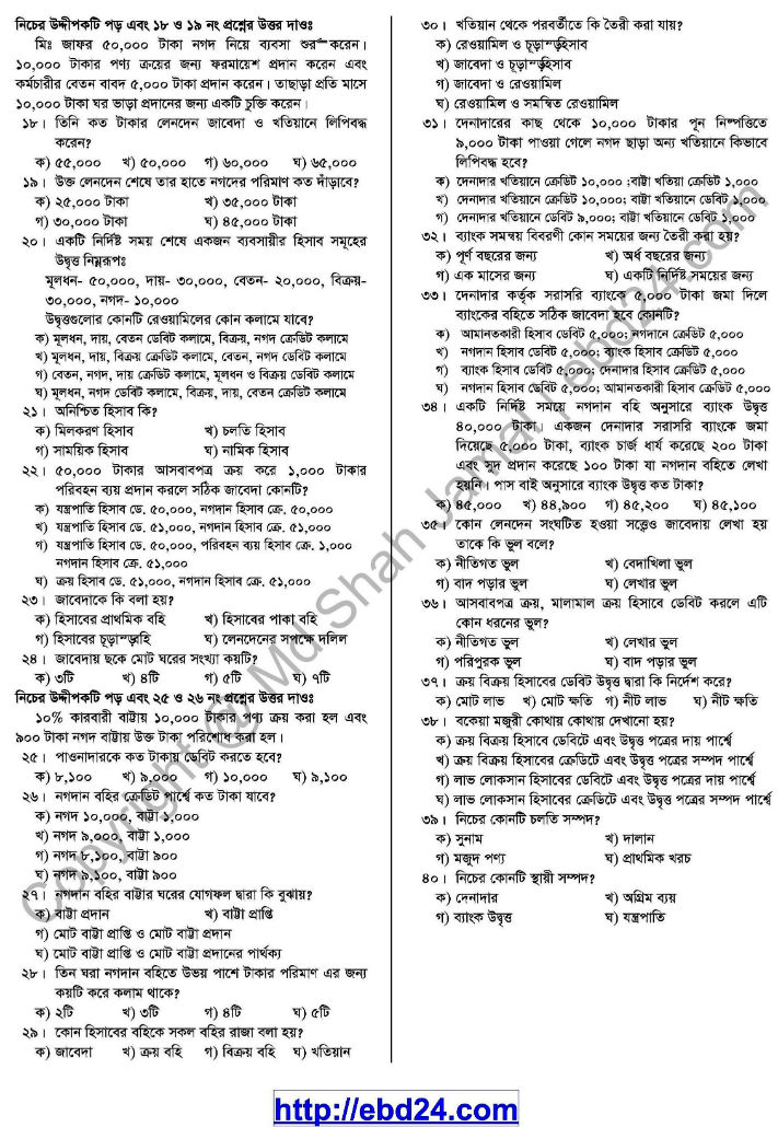 Accounting Suggestion and Question Patterns of HSC Examination 2014 (8)