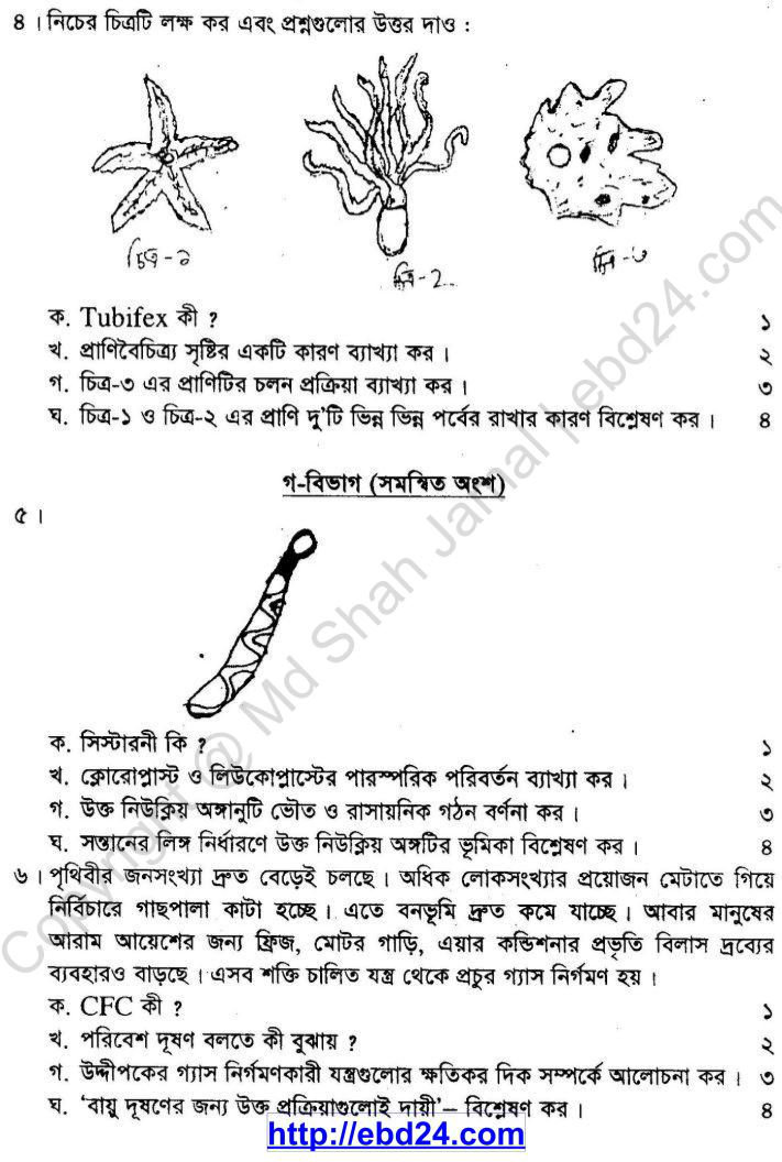 Biology Suggestion and Question Patterns of SSC Examination 2014 (2)