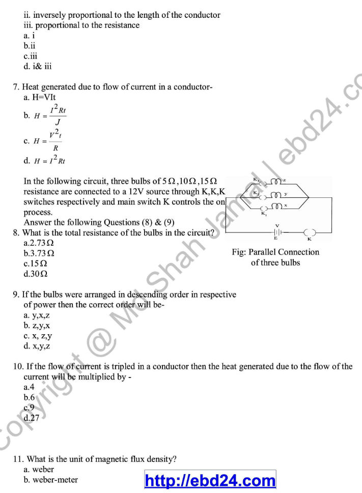 English Version Physics Suggestion and Question Patterns of HSC Examination 2014 (5)