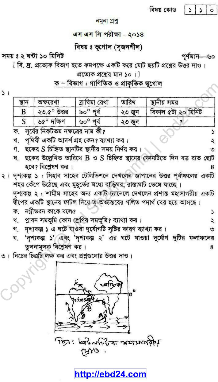 Geography Suggestion and Question Patterns of SSC Examination 2014_01