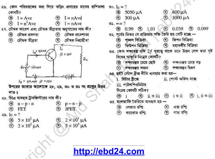 Physics Suggestion and Question Patterns of HSC Examination 2014