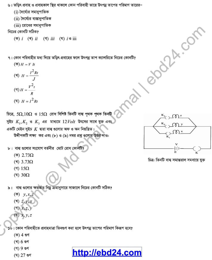 Physics Suggestion and Question Patterns of HSC Examination 2014 (5)