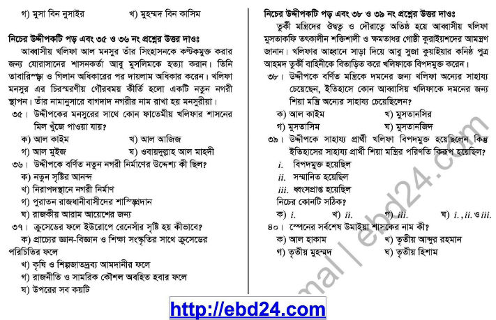Islamic History- 1st HSC Suggestion and Question Pattern of Examination 2014 (6)