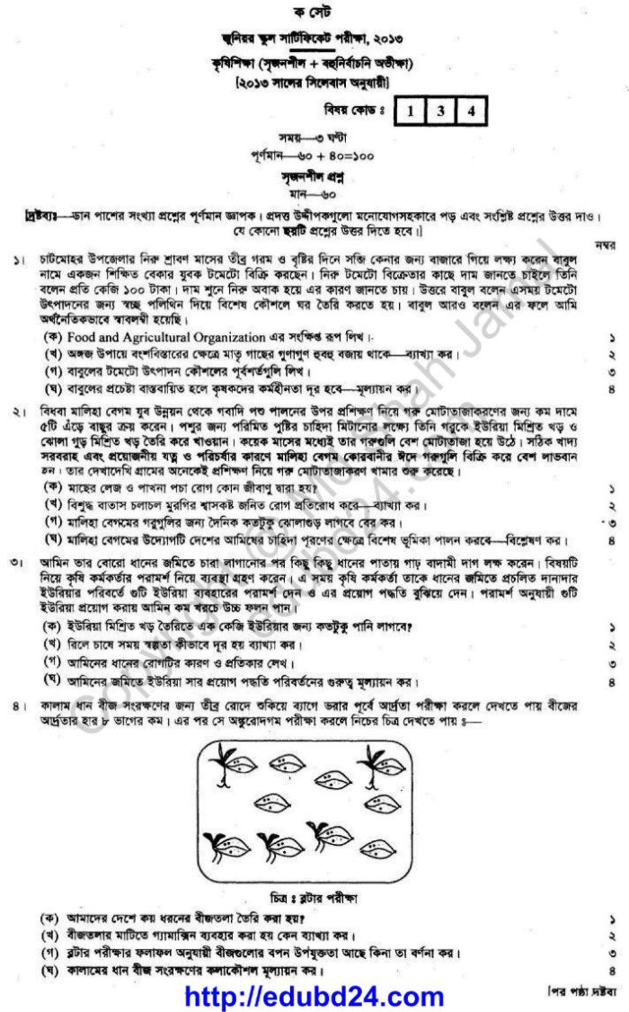 Agricultural Studies Suggestion and Question Patterns 2014-4