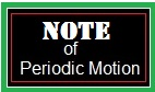 Note of Periodic Motion