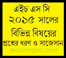 Suggestion and Question Patterns of HSC Examination 2015 1