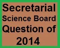 Secretarial Science 2014