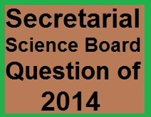 Secretarial Science 2014