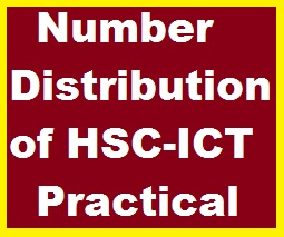 Number Distribution of HSC-ICT Practical