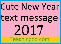 Cute New Year text message 2017