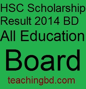 HSC Scholarship Result 2014 BD All Education Board 10